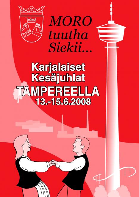 Karjalaiset kesäjuhlat Tampereella 2008.