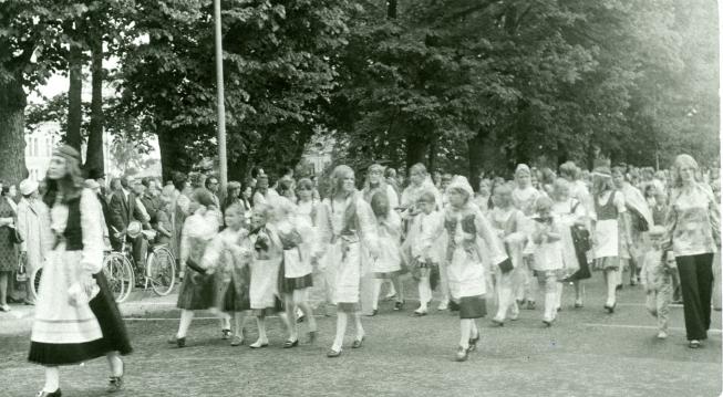 Karjalaiset kesäjuhlat Haminassa 1971.
