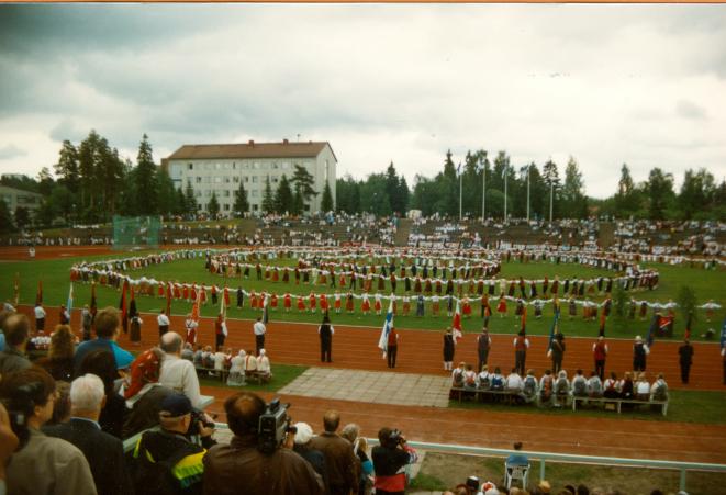 Karjalaiset kesäjuhlat Kouvolassa 1991.