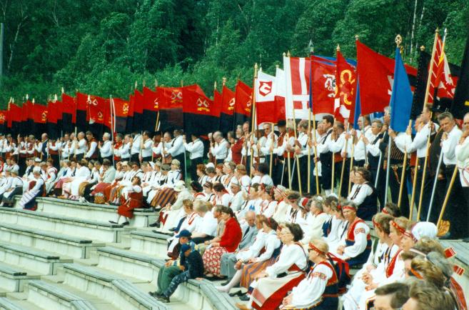 Karjalaiset kesäjuhlat Vaasassa 1999.