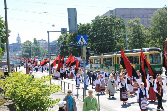 Karjalaiset kesäjuhlat Helsingissä 2010.