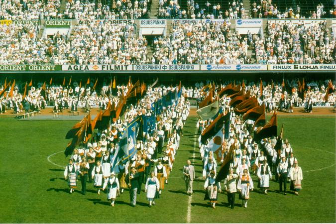 Karjalaiset kesäjuhlat 1985 Helsingissä.
